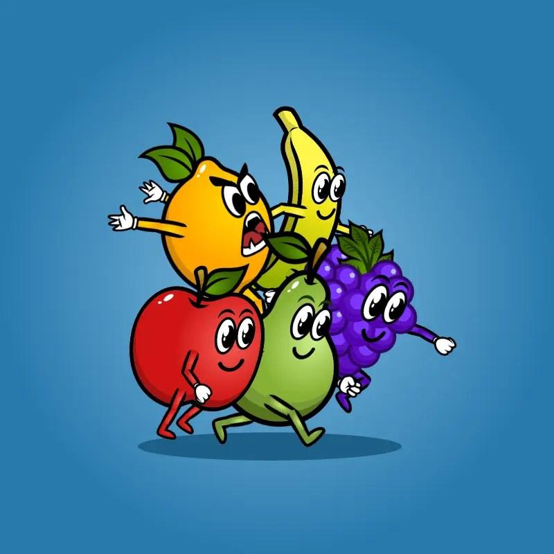 Fruit Monster 5-Packs - 2D Character Sprite