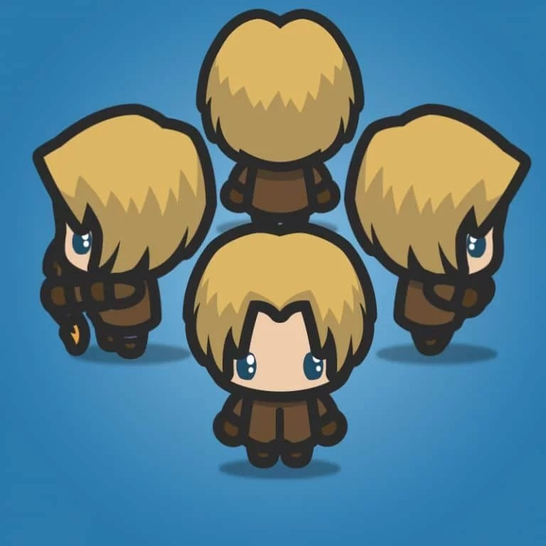 4 Directional Archer Guy - 2D Character Sprite for Game Developer