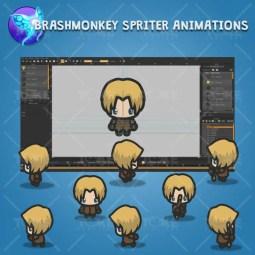 4 Directional Archer Guy - Brashmonkey Spriter Character Animation Sprite