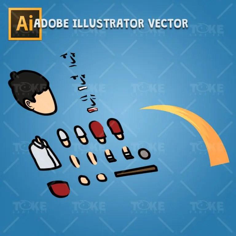 Sad Boy - Adobe Illustrator Vector Art Based Charcater Body Parts