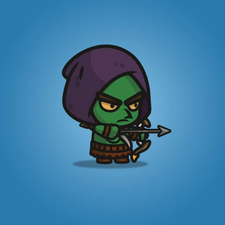 Goblin Archer - 2D Character Sprite