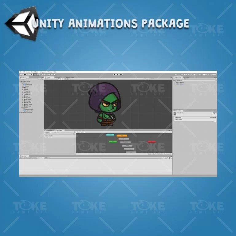 Goblin Archer - Unity Character Animation Package Ready with Spriter2UnityDX Tool