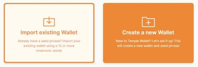 configurar temple wallet tezos
