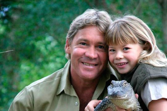 Steve Irwin and daughter Bindi