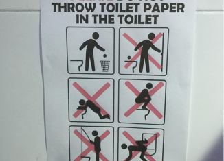 Toilet Rules Sign
