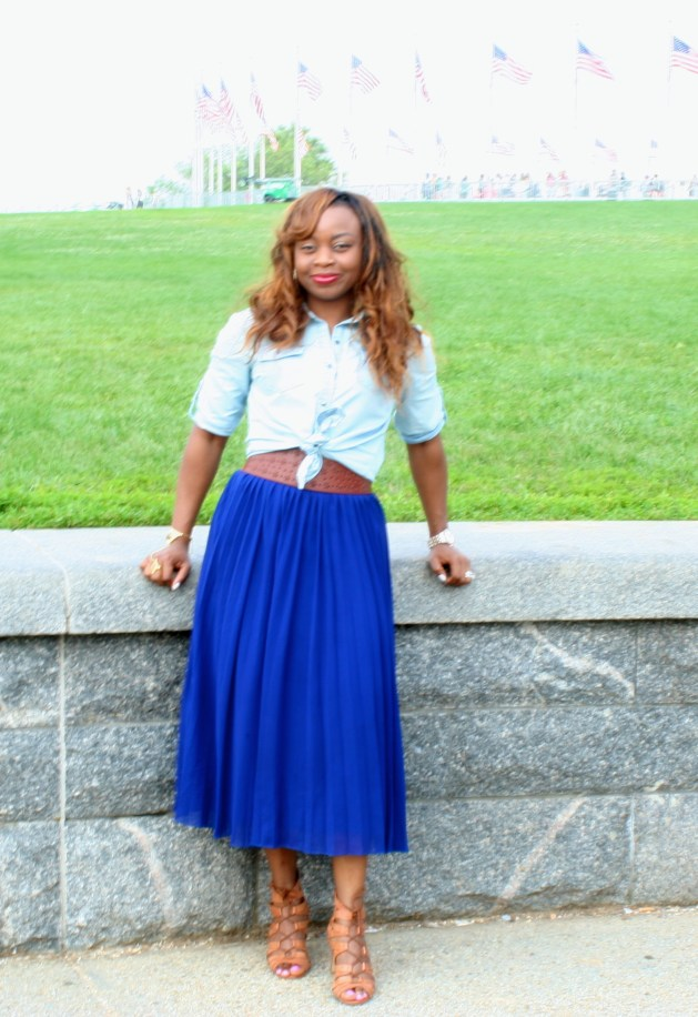 Chambray + Pleats 2