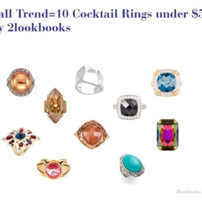 Easy Fall Finds=10 Cocktail Rings under $50