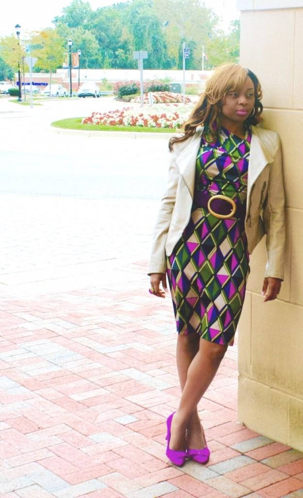 Long sleeve multi-colored purple dress2