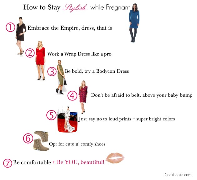 How to stay stylish while pregnant