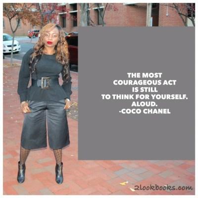 #MondayMotivation / #MotivationMonday = Coco Chanel Fashion Quote