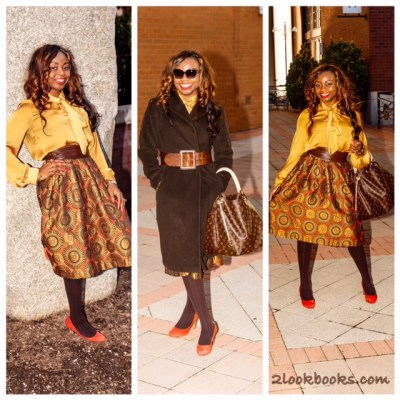 Print Midi Skirt – Cold Weather Edition