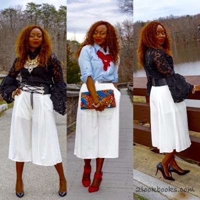 How to Wear White Culottes