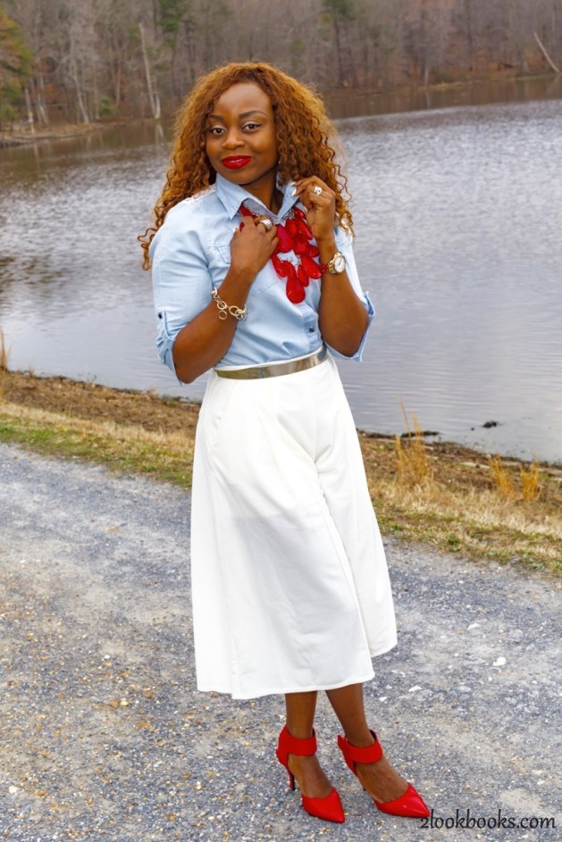 How to wear white culottes18