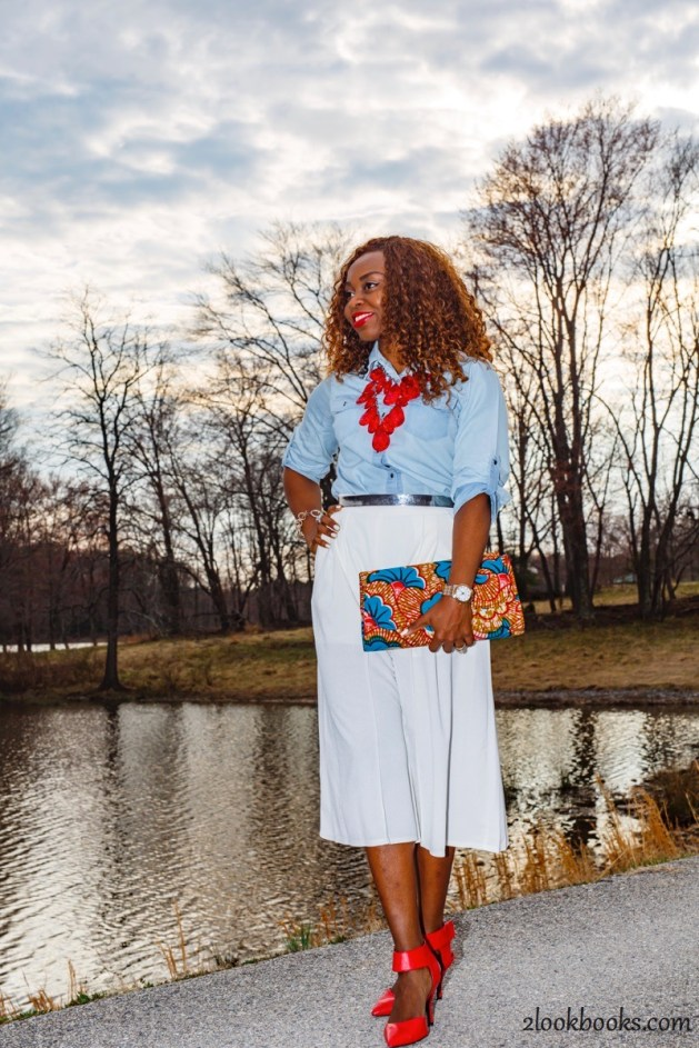 How to wear white culottes25