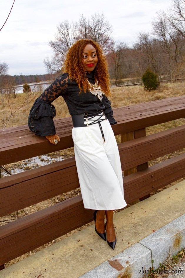 How to wear white culottes6