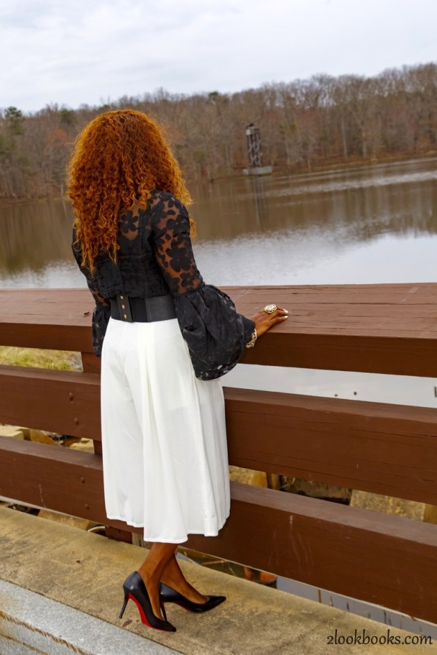 How to wear white culottes8