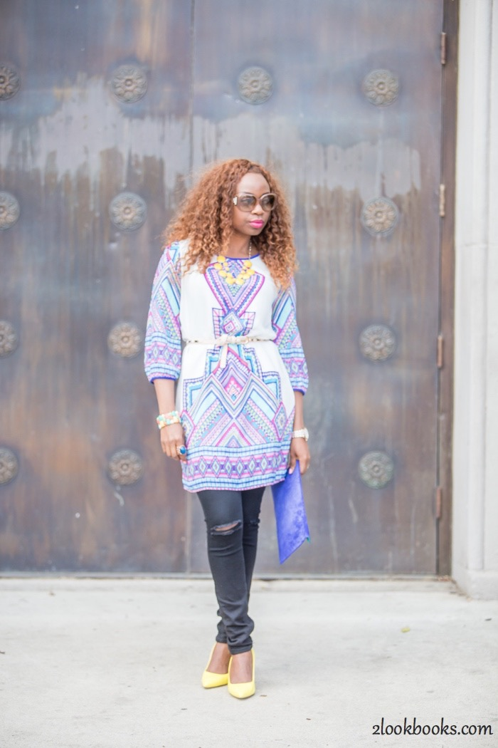 How to wear a dress over jeans8