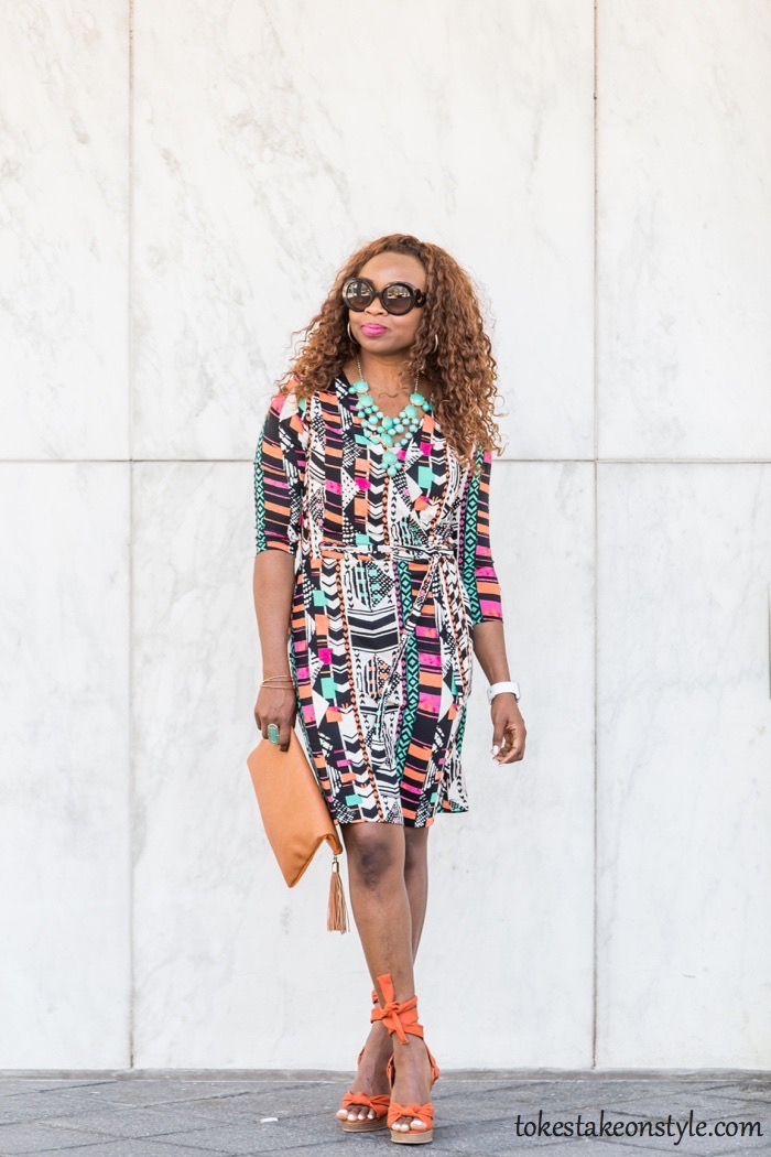 How to Style a Faux Wrap Dress10