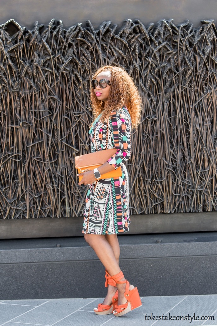 How to Style a Faux Wrap Dress8