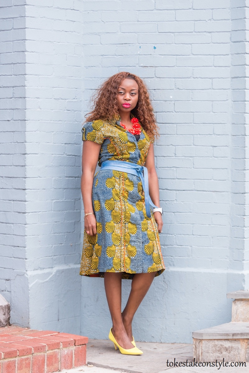 How to Style a Print Shirt Dress1