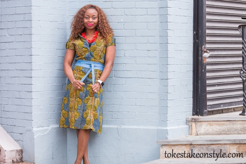 How to Style a Print Shirt Dress5