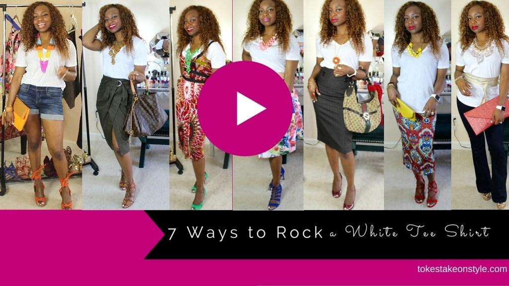 7 ways to rock a white tee