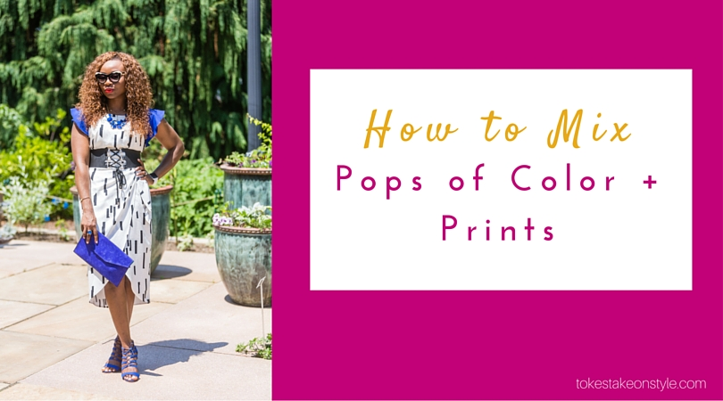How to Mix Pops of Color + Prints