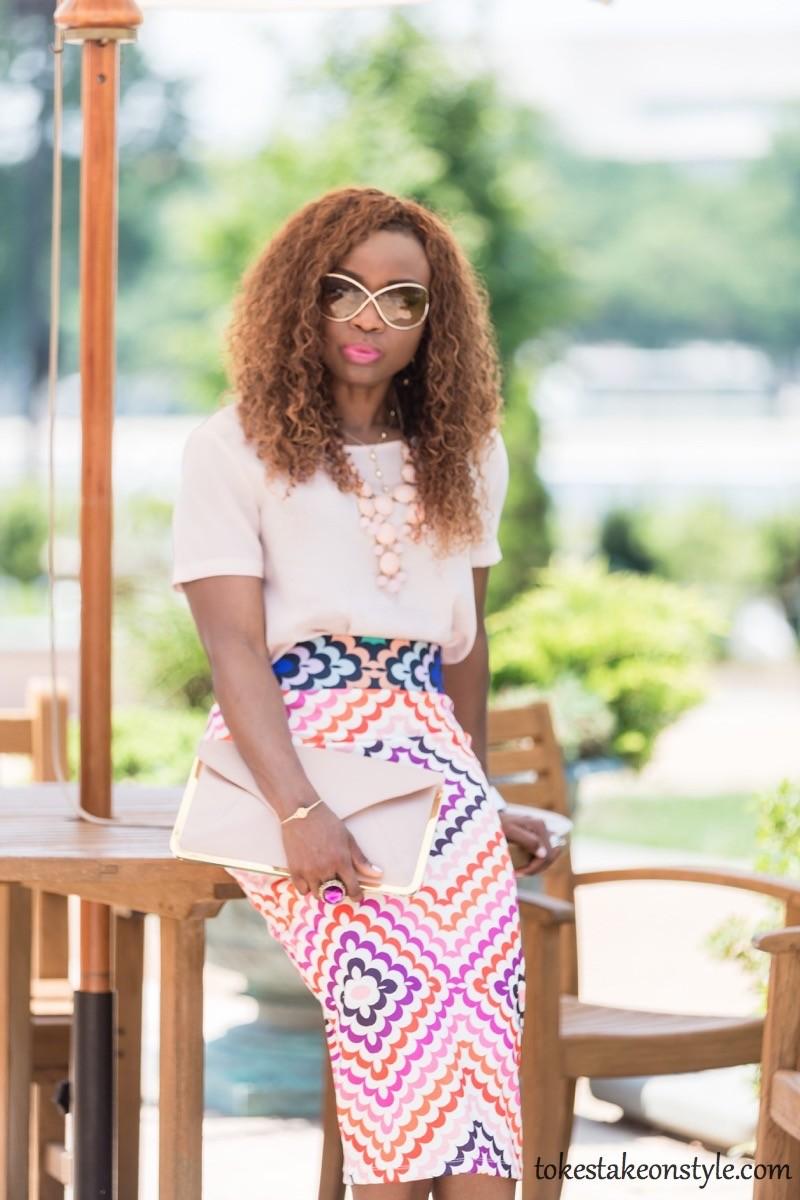 Print Skirt and Pastel Top-3 Ways2