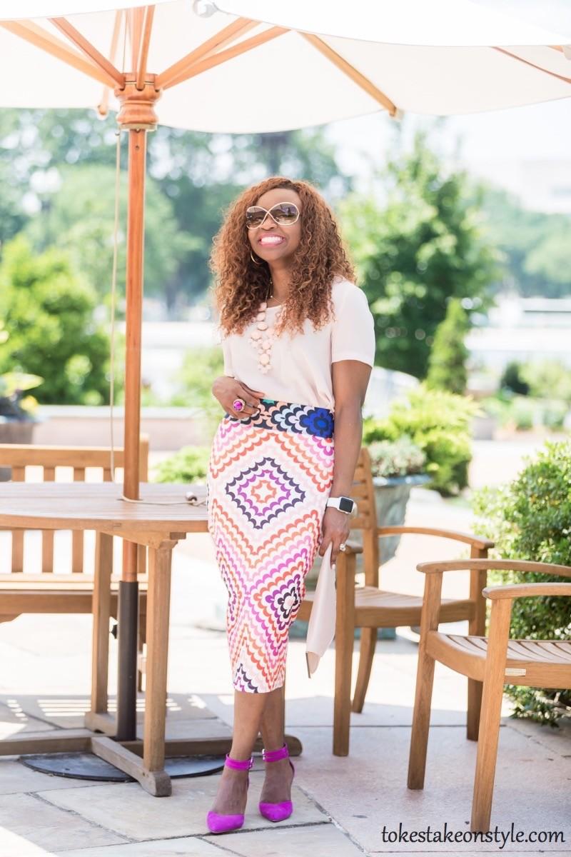 Print Skirt and Pastel Top-3 Ways4