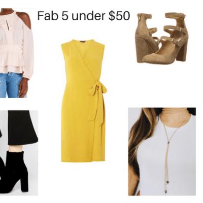 Fab Fall Fashion Finds under $50