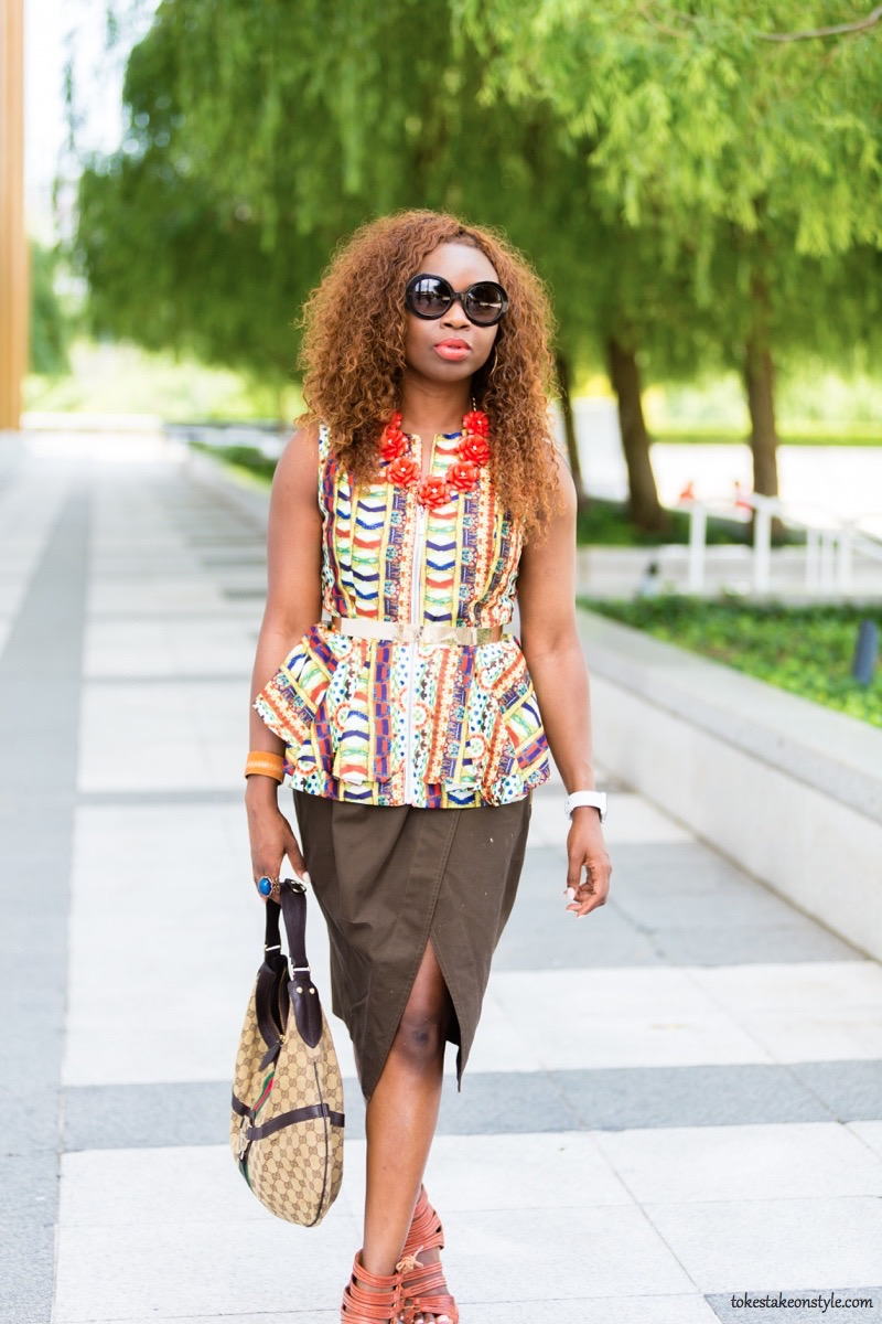 How to Style Printed Peplum Top4