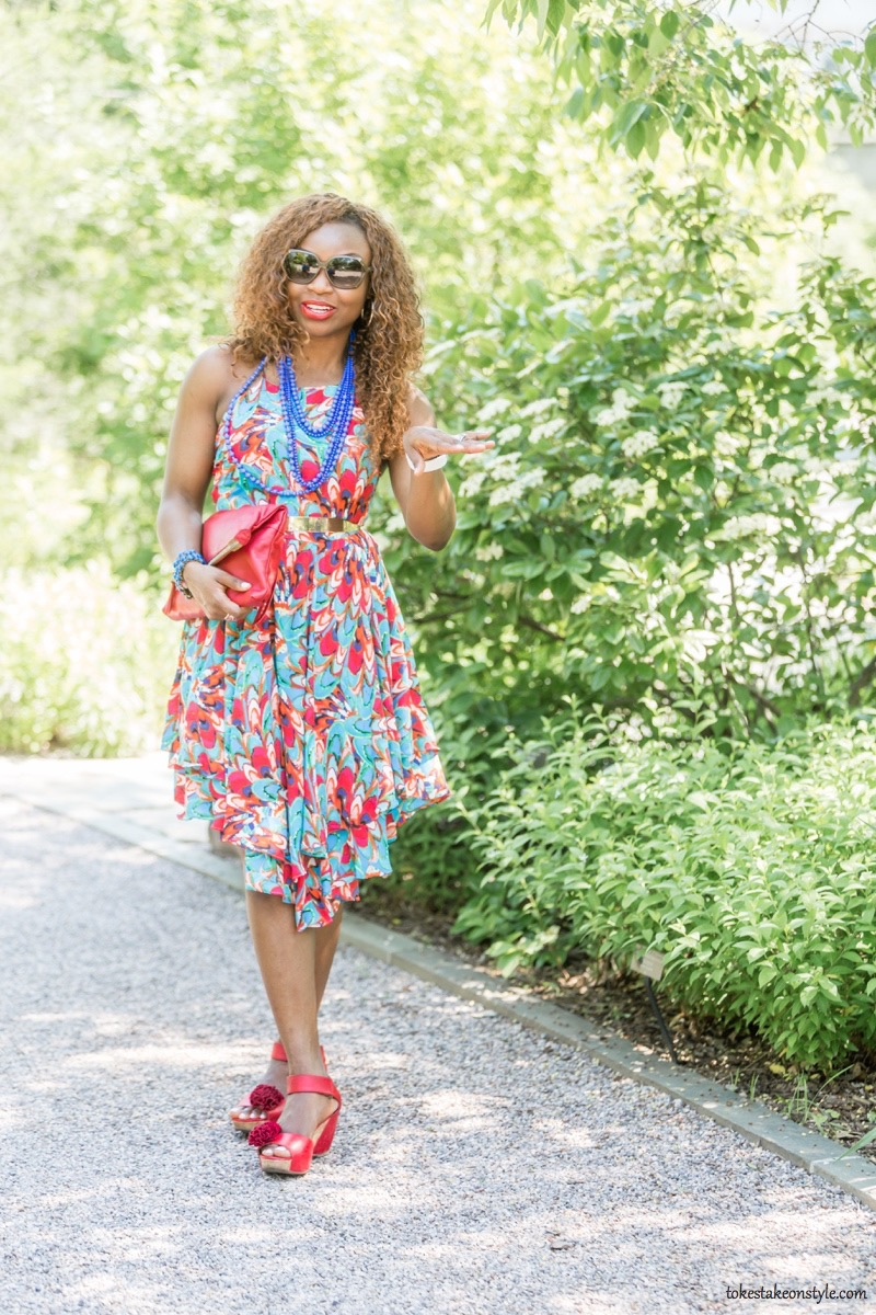 How to Style a Print Dress15