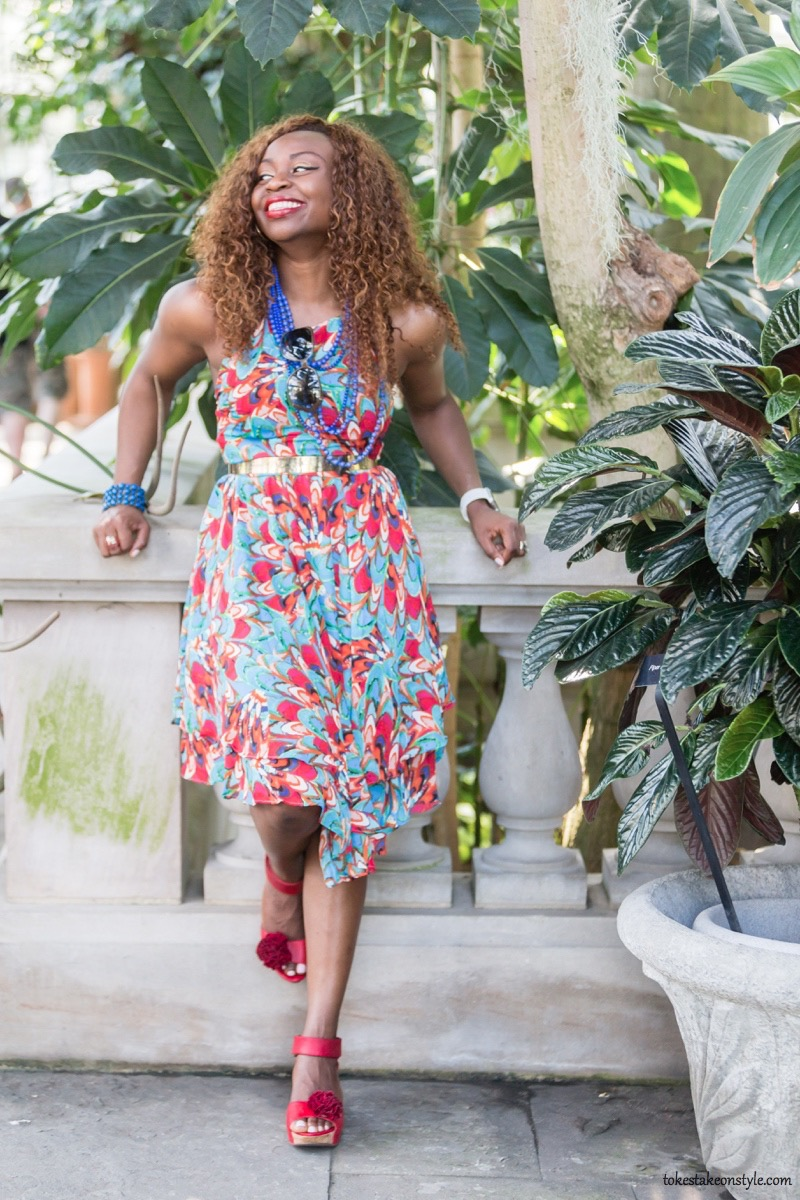 How to Style a Print Dress2