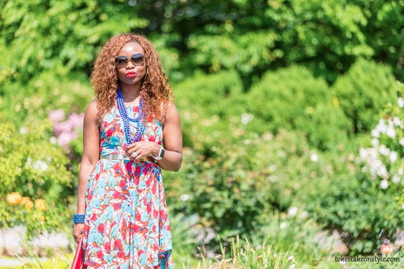 How to Style a Print Dress22