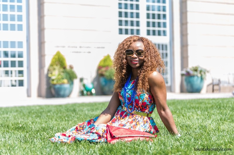 How to Style a Print Dress4