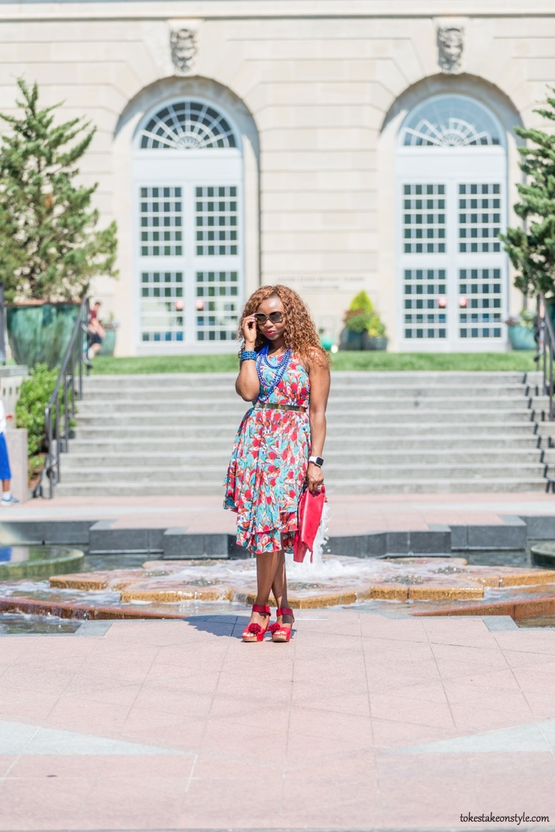 How to Style a Print Dress7