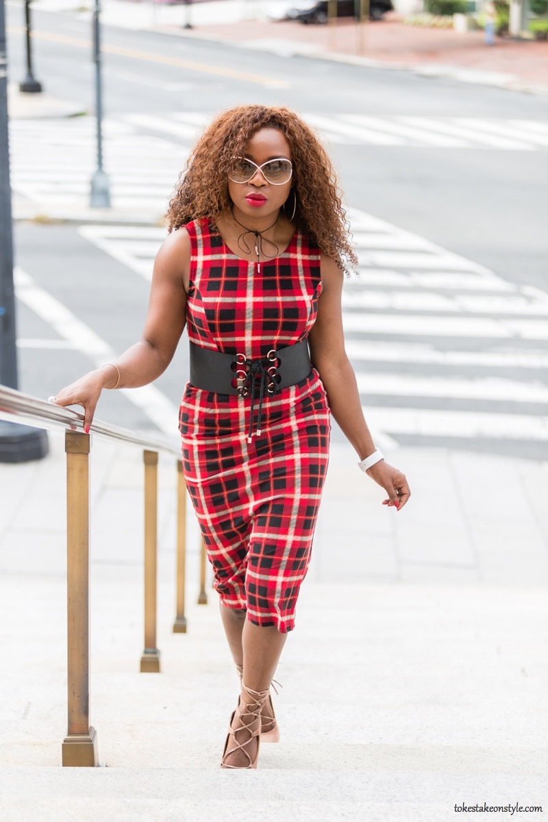 how-to-style-a-red-plaid-dress-for-fall23