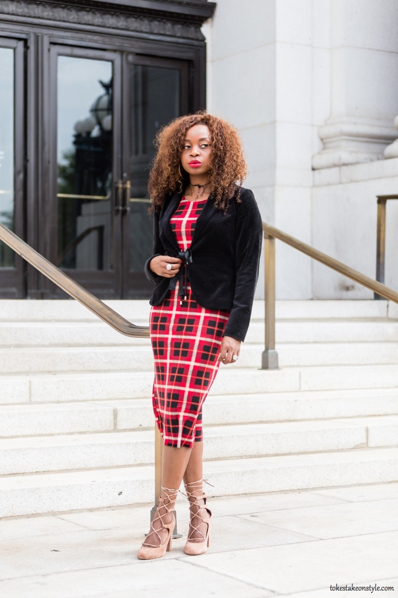 how-to-style-a-red-plaid-dress-for-fall8