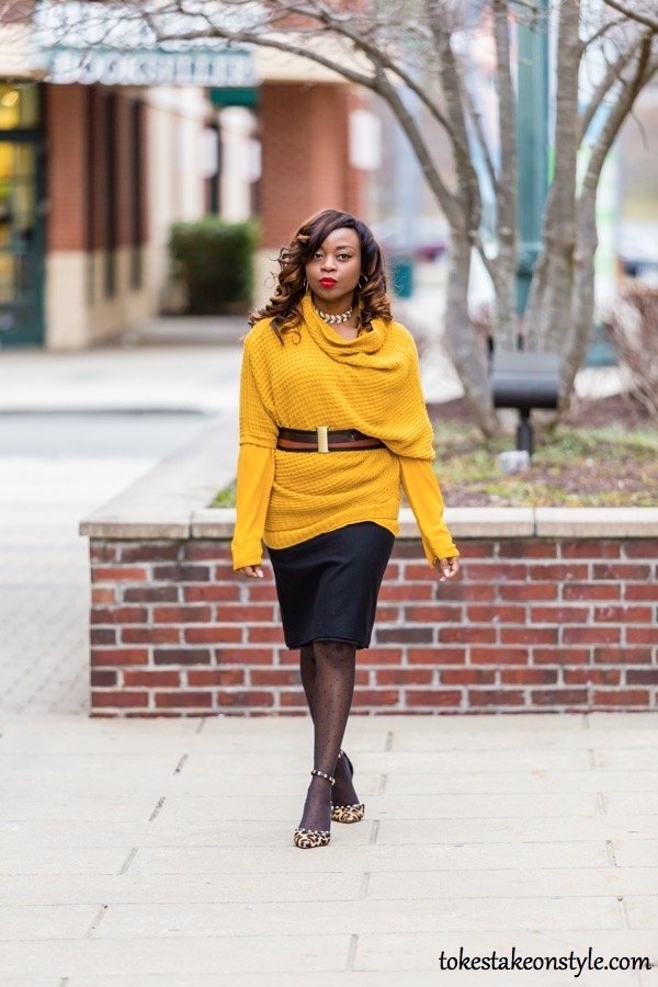 yellow dress with leopard shoes
