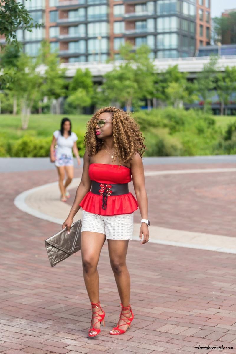Fashion blog cute shorts outfit