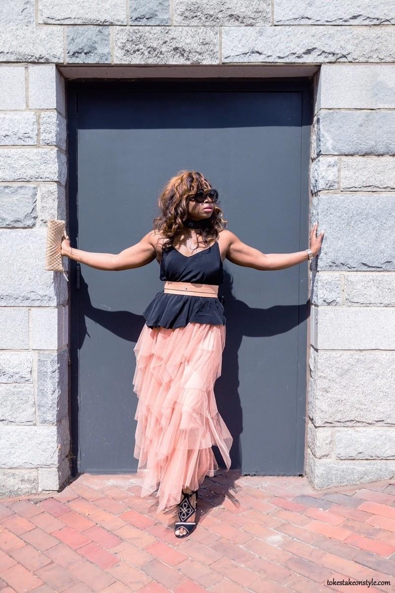 black top layered tulle skirt fashion blogger Tokes Take on Style