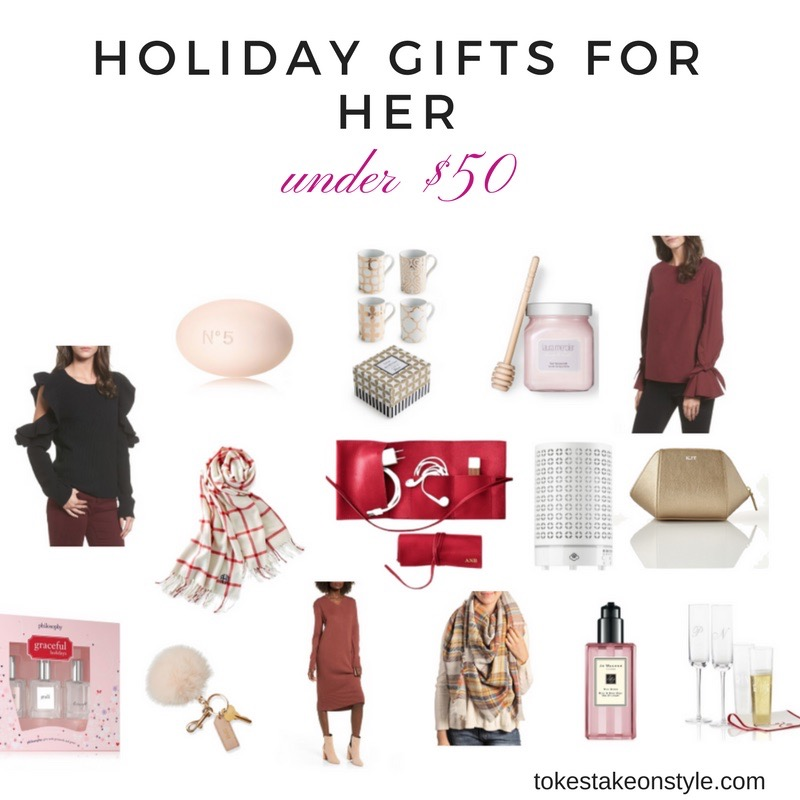 Holiday Gifts under $50 for women