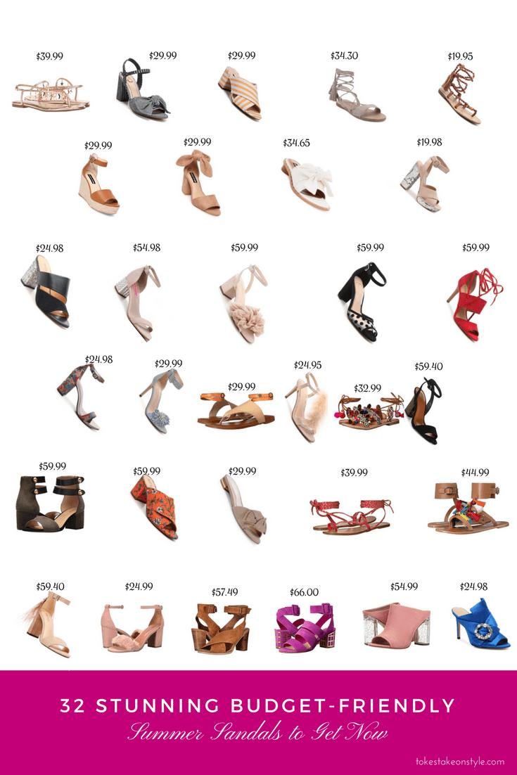 Affordable budget-friendly Summer sandals