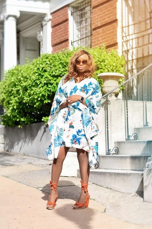 how to style a Shein Summer Kimono