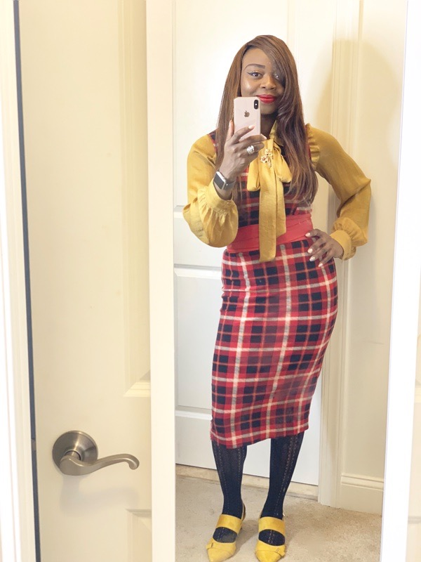 tokestakeonstyle-day-to-night-office-holiday-party-looks-red-plaid-dress