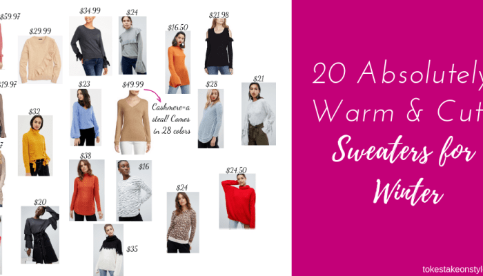 20 absolutely warm and cute sweaters for winter