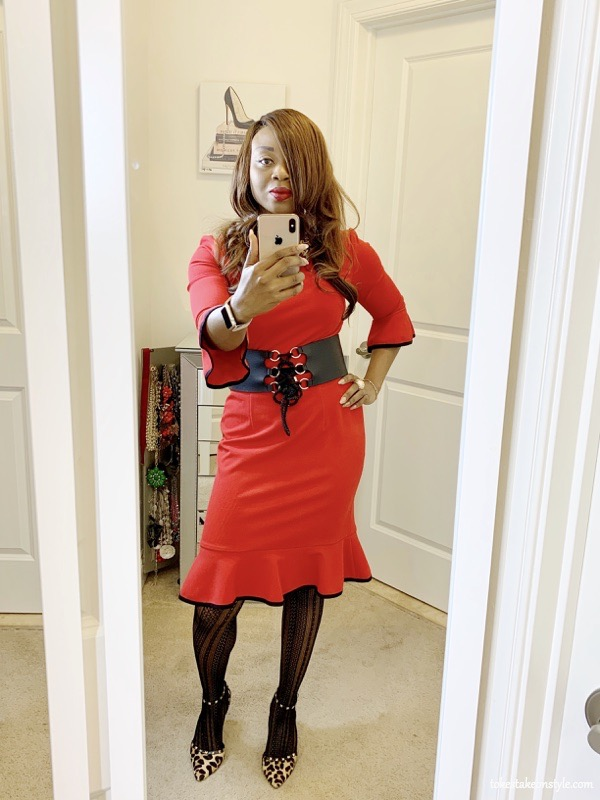 tokestakeonstyle-best-clothes-to-buy-on-amazon-Donna-Morgan-red-dress