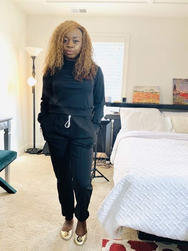 lovely wholesale review black jogger set