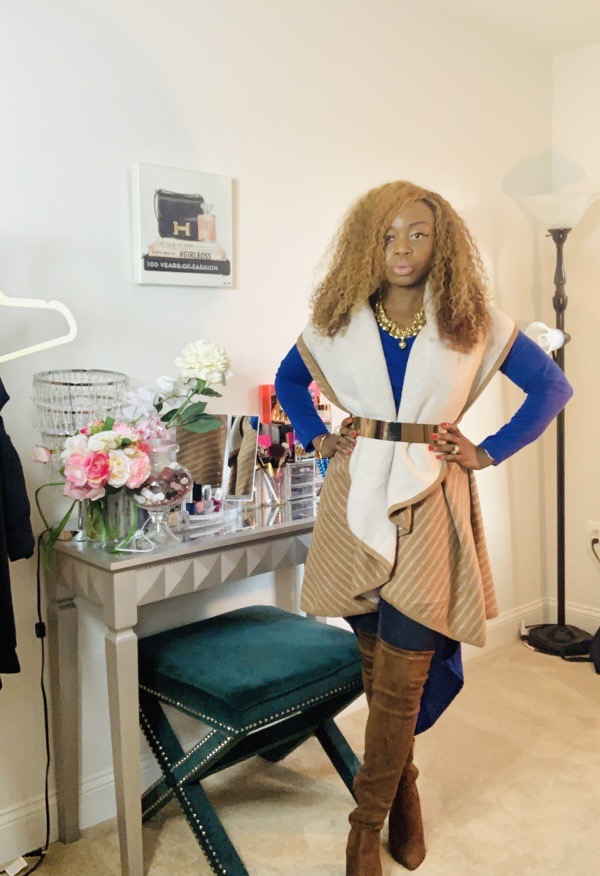 lovely wholesale review belted tan duster and over the knee boots