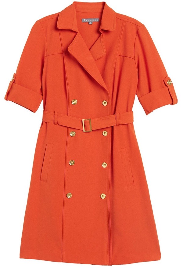 wearable-summer-2020-fashion-trends-neon-orange-nordstromrack-sharagano-double-breasted-dress